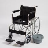 Кресло-коляска механическое с санитарным оснащением CCW15_2